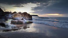 Ηλιοβασίλεμα Penbryn στοκ εικόνα