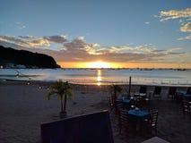 Ηλιοβασίλεμα San Juan del Sol Νικαράγουα στοκ φωτογραφίες με δικαίωμα ελεύθερης χρήσης