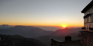 Ηλιοβασίλεμα, shimla, να εξισώσει στοκ φωτογραφίες με δικαίωμα ελεύθερης χρήσης