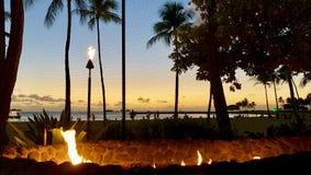 Ηλιοβασίλεμα Waikiki στοκ εικόνες με δικαίωμα ελεύθερης χρήσης