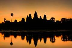 Ηλιοβασίλεμα Wat Angkor Στοκ φωτογραφία με δικαίωμα ελεύθερης χρήσης