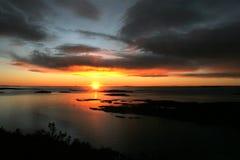 ηλιοβασίλεμα wintertime στοκ φωτογραφία με δικαίωμα ελεύθερης χρήσης