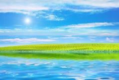 ηλιοφάνεια λιμνών Στοκ φωτογραφία με δικαίωμα ελεύθερης χρήσης