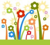 ηλιοφάνεια λουλουδιών διανυσματική απεικόνιση