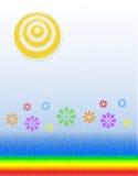 ηλιοφάνεια λουλουδιώ&nu στοκ φωτογραφία