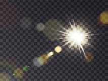 Ηλιοφάνεια με τη φλόγα φακών ελεύθερη απεικόνιση δικαιώματος