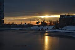 ηλιοφάνεια στην πόλη στοκ φωτογραφία