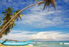Ηλιόλουστη ακτή της Σρι Λάνκα Στοκ Φωτογραφίες