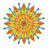 Ηλιόλουστο κίτρινο mandala ελεύθερη απεικόνιση δικαιώματος