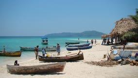Ηλιόλουστο πρωί στην παραλία Cayos Cochinos στοκ εικόνες με δικαίωμα ελεύθερης χρήσης
