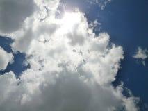 Ηλιόλουστο σύννεφο Στοκ Εικόνα