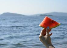 Ηλιόλουστο juicy εύγευστο καρπούζι Στοκ Εικόνες