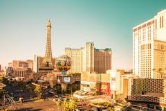 Ηλιόλουστο Las Vegas Strip άποψης στοκ εικόνες