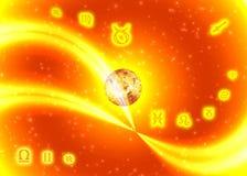 ηλιόλουστο zodiac συμβόλων Στοκ εικόνα με δικαίωμα ελεύθερης χρήσης