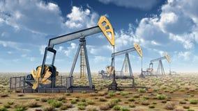 ημέρας Καζακστάν αντλίες πετρελαίου μήνα Ιουνίου δυτικές Στοκ εικόνα με δικαίωμα ελεύθερης χρήσης