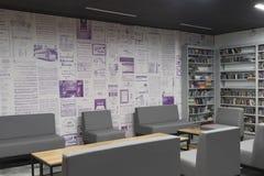Ημέρα έναρξης το Δεκέμβριο του 2018 piloto pública biblioteca medellin δημόσια βιβλιοθ στοκ εικόνες