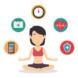 Ημέρα έννοιας πνευματικών υγειών διανυσματική απεικόνιση