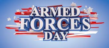 Ημέρα Ένοπλων Δυνάμεων διανυσματική απεικόνιση