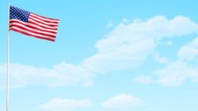 Ημέρα ΑΜΕΡΙΚΑΝΙΚΩΝ αμερικανικών σημαιών ελεύθερη απεικόνιση δικαιώματος