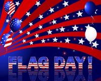 Ημέρα αμερικανικών σημαιών. Στοκ Εικόνες