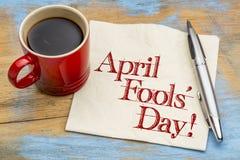 Ημέρα ανόητων Απριλίου - γραφή πετσετών Στοκ φωτογραφία με δικαίωμα ελεύθερης χρήσης