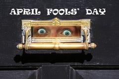 Ημέρα ανόητων Απριλίου φοβική Στοκ Εικόνες