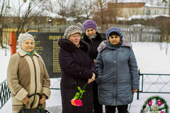 Ημέρα απελευθέρωσης σε ένα ρωσικό χωριό στην περιοχή Kaluga στις 29 Ιανουαρίου 2016 Στοκ φωτογραφία με δικαίωμα ελεύθερης χρήσης