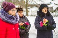 Ημέρα απελευθέρωσης σε ένα ρωσικό χωριό στην περιοχή Kaluga στις 29 Ιανουαρίου 2016 Στοκ φωτογραφίες με δικαίωμα ελεύθερης χρήσης