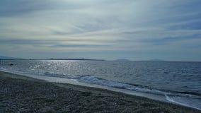 Ημέρα απογεύματος σε μια σισιλιάνα παραλία Στοκ Εικόνες