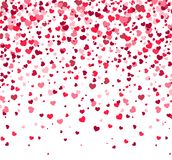 Ημέρα βαλεντίνων - διανυσματική ευχετήρια κάρτα με τις καρδιές στο άσπρο υπόβαθρο διανυσματική απεικόνιση