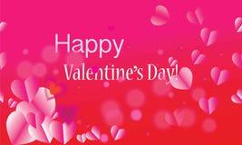 Ημέρα βαλεντίνων, ημέρα μητέρων ` s, διακοπές, γενέθλια, επέτειος, πρότυπο καρτών ημέρας γάμου Ρομαντικά σύμβολα ρόδινο ρ αγάπης Στοκ Εικόνες