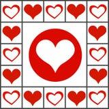 Ημέρα βαλεντίνων ` s κολάζ καρδιών διανυσματική απεικόνιση