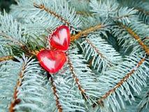 Ημέρα βαλεντίνων ` s, κόκκινες καρδιές στην ημέρα Dy StValentine ` s στοκ εικόνα