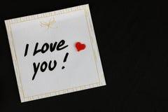 Ημέρα βαλεντίνων ` s - σημειώστε την αγάπη ` ι εσείς ` με μια καρδιά - backgro πετρών στοκ εικόνα με δικαίωμα ελεύθερης χρήσης