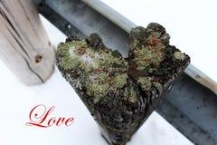 Ημέρα βαλεντίνου: ξεπερασμένη ξύλινη θέση καρδιά-που διαμορφώνεται στοκ φωτογραφίες με δικαίωμα ελεύθερης χρήσης