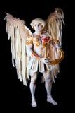 Ημέρα βαλεντίνου, cupid άτομο με την άρπα Στοκ Φωτογραφίες