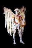 Ημέρα βαλεντίνου, cupid άτομο με την άρπα Στοκ εικόνες με δικαίωμα ελεύθερης χρήσης