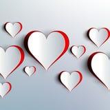 Ημέρα βαλεντίνων. Αφηρημένες καρδιές εγγράφου. Αγάπη Στοκ εικόνα με δικαίωμα ελεύθερης χρήσης