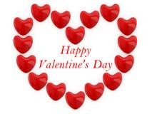 Ημέρα βαλεντίνων καρδιών Στοκ Εικόνα