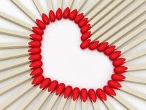 Ημέρα βαλεντίνων καρδιών Διανυσματική απεικόνιση