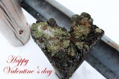 Ημέρα βαλεντίνων: ξεπερασμένη ξύλινη θέση καρδιά-που διαμορφώνεται στοκ εικόνα με δικαίωμα ελεύθερης χρήσης