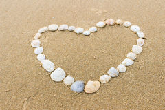 Ημέρα βαλεντίνων στην παραλία Στοκ εικόνες με δικαίωμα ελεύθερης χρήσης