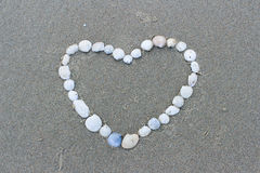 Ημέρα βαλεντίνων στην παραλία Στοκ εικόνα με δικαίωμα ελεύθερης χρήσης