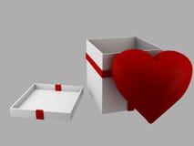 Ημέρα βαλεντίνων δώρων, τρισδιάστατη απεικόνιση Στοκ Εικόνες