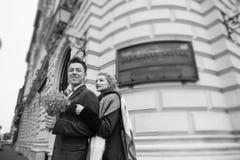 Ημέρα γάμου στη Βουδαπέστη Στοκ Εικόνες