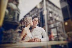 Ημέρα γάμου στη Βουδαπέστη Στοκ φωτογραφία με δικαίωμα ελεύθερης χρήσης