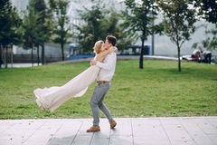 Ημέρα γάμου στη Βουδαπέστη Στοκ Φωτογραφία