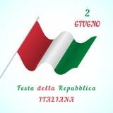 Ημέρα Δημοκρατίας στην Ιταλία Στοκ Εικόνες