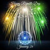 Ημέρα Δημοκρατίας στις 26 Ιανουαρίου της Ινδίας Στοκ Φωτογραφίες