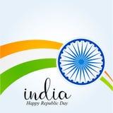 Ημέρα Δημοκρατίας της Ινδίας 26 Ιανουαρίου ινδικό υπόβαθρο ελεύθερη απεικόνιση δικαιώματος